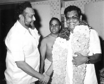 Tiruppur Mani with Producer Actor K.Balaji