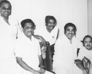 With Gangai Amaran, KRG, Lyricist Vaali